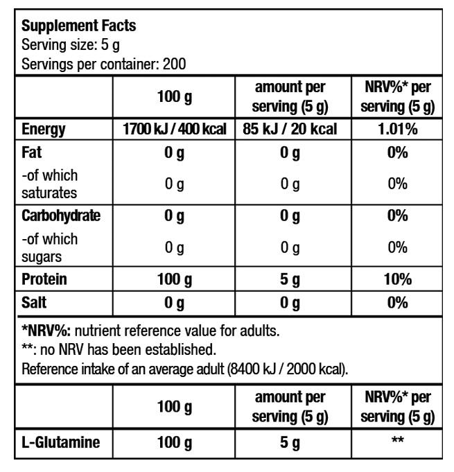 tabla-l-glutamine